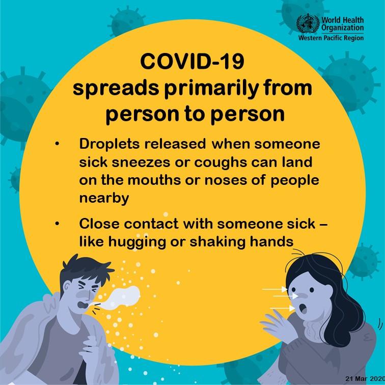 WHO graphic COVID-19 spread