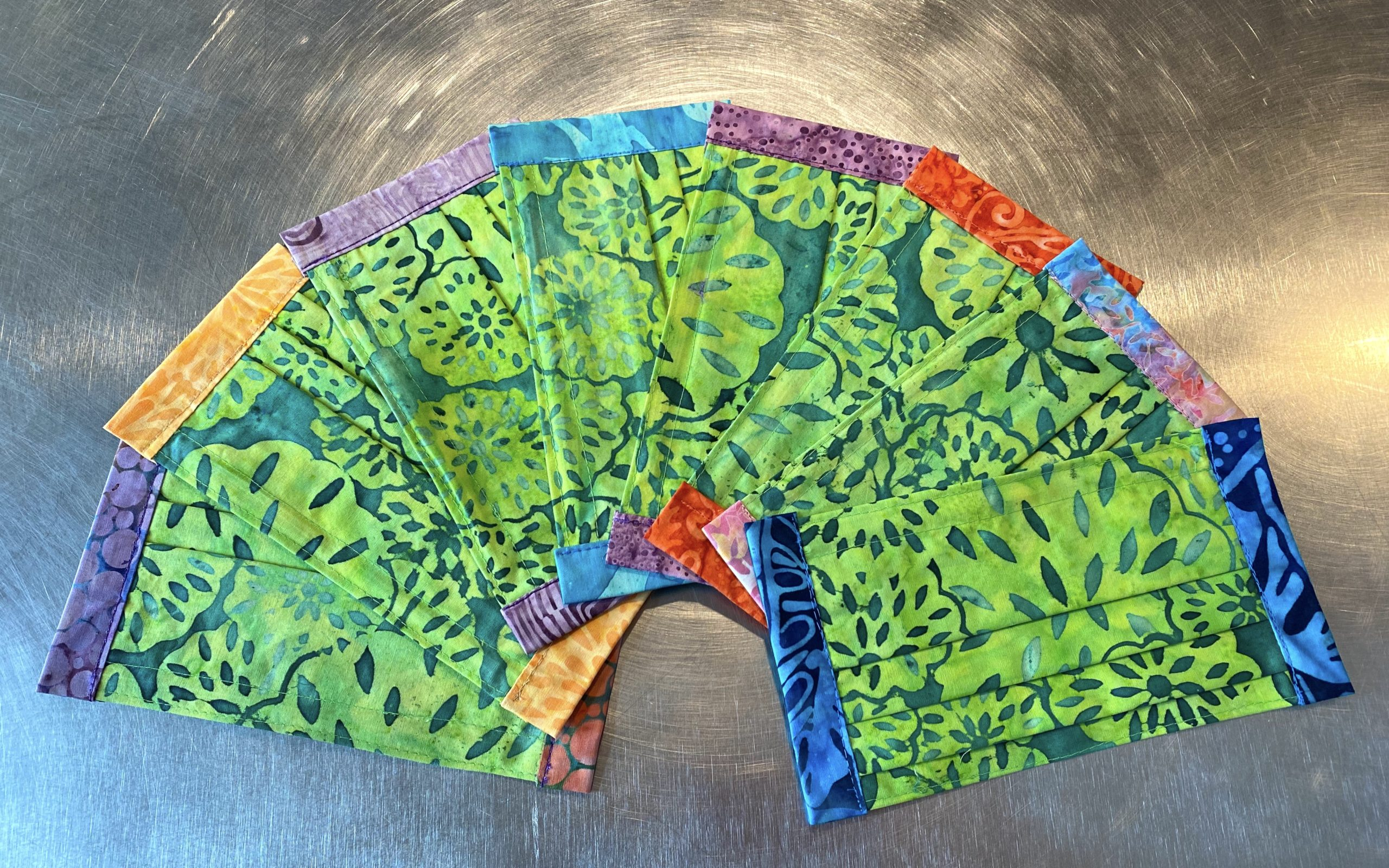 Pickle face masks by Bozeman Batiks
