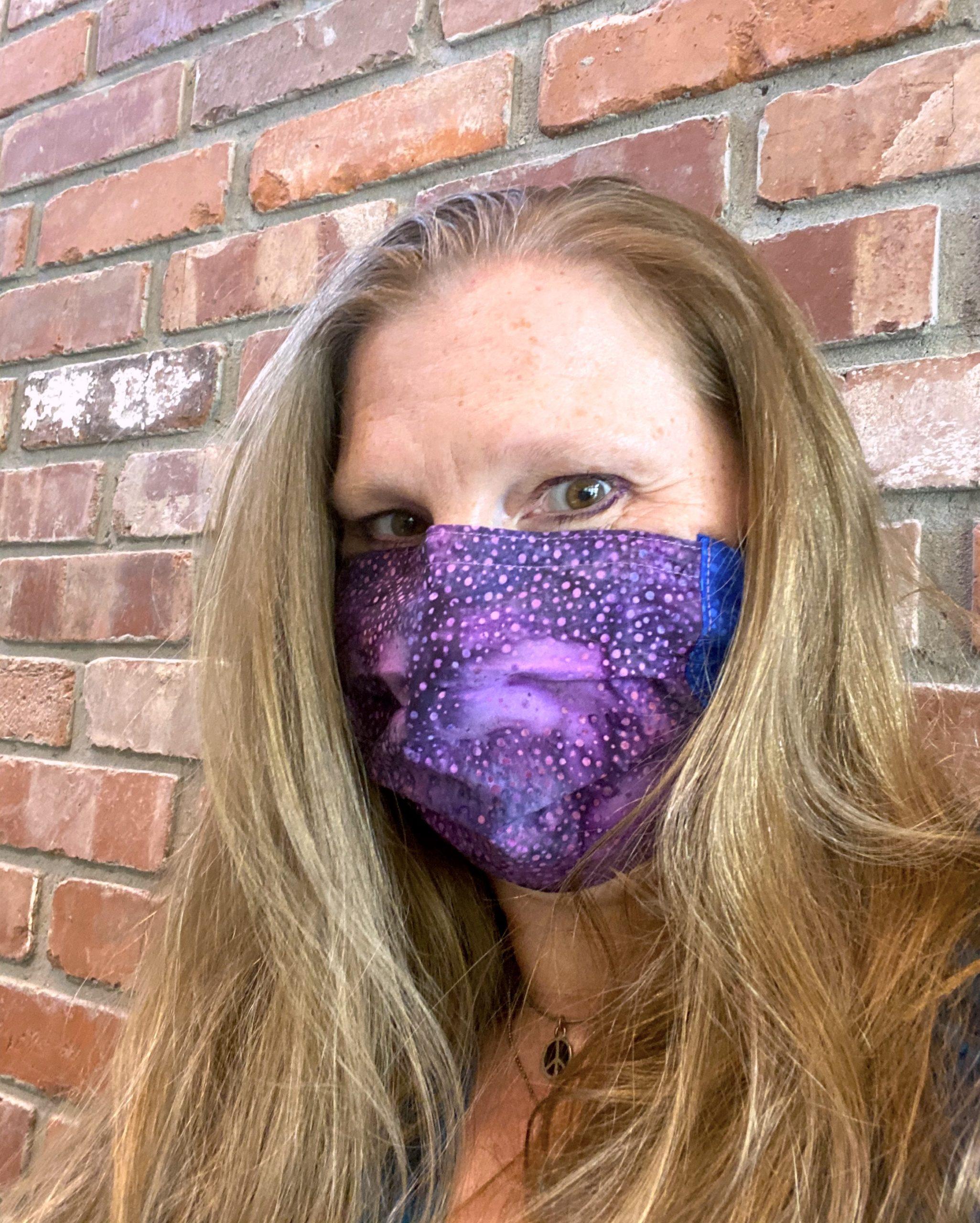 Purple Rain face mask by Bozeman Batiks